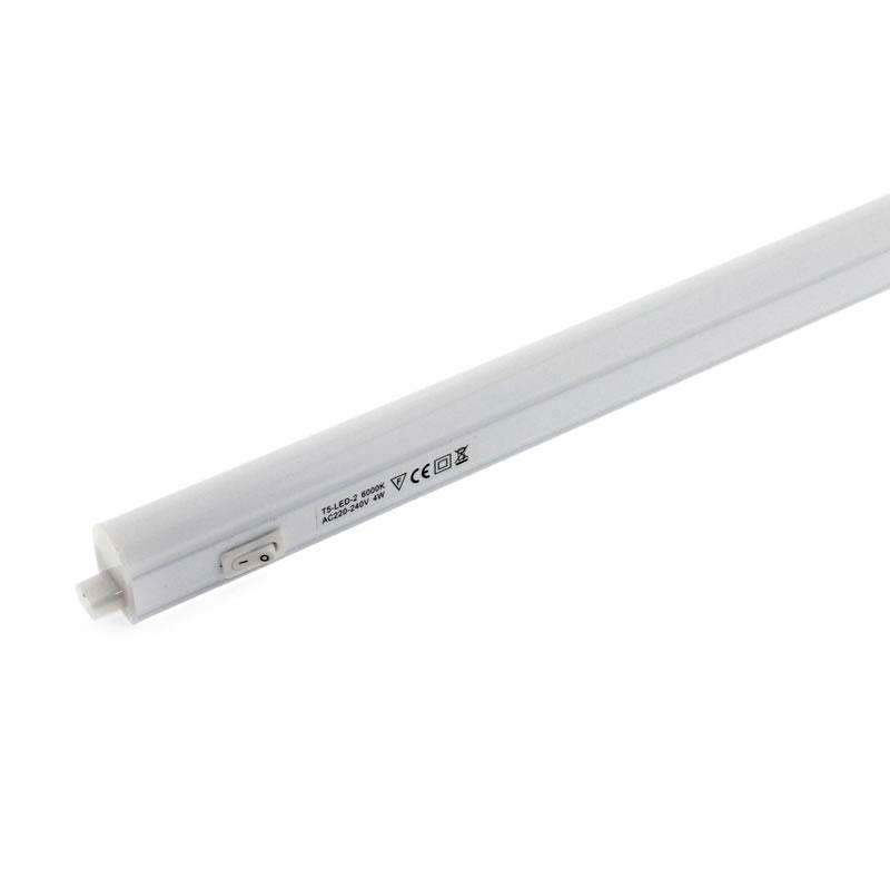 Tubo LED T5 Integrado con interruptor, 10W, 87cm, Blanco neutro